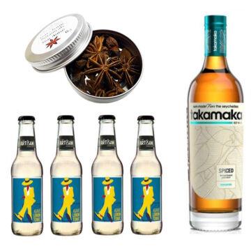 Takamaka Spice Rum & Tonik Szett Ajándék Csillagánizzsal