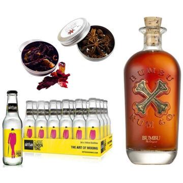 Bumbu Rum & 24 Artisan Classic Tonik 2 db Ajándék Koktél Fűszerrel