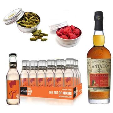 Plantation Pineapple Rum & 24 Artisan Gyömbérsör Ajándék 2 db Koktél Fűszerrel