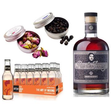 Jeremy Spice Rum & 24 Artisan Gyömbérsör Ajándék 2 db Koktél Fűszerrel