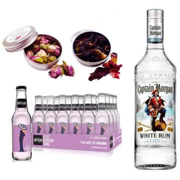 Captain Morgan White Rum & 24 Artisan Violet Blossom Tonik 2 db Ajándék Koktél Fűszerrel
