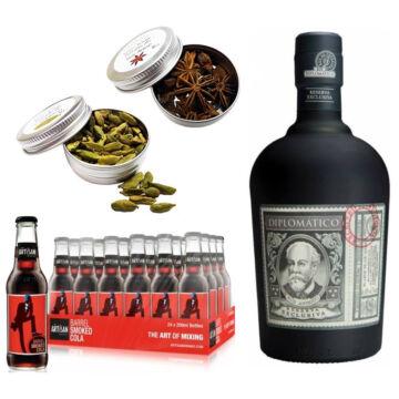 Diplomatico Rum & 24 Artisan Barrel Smoke Cola 2 db Ajándék Koktél Fűszerrel