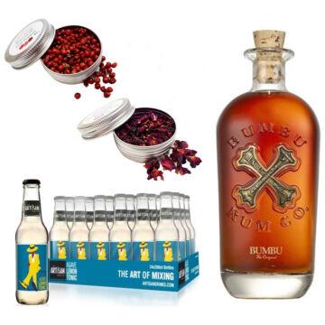 Bumbu Rum & 24 Artisan Lemon Agave Tonik 2 Ajándék Koktél Fűszerrel
