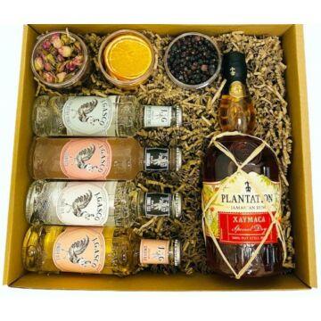 Plantation Xaymaca Rum Szett Tonik válogatással Koktélfűszerekkel