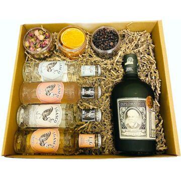 Diplomatico Rum Szett Tonik válogatással Koktélfűszerekkel