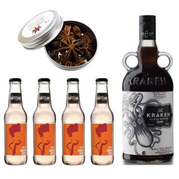 Kraken Rum & Ginger Beer Szett Ajándék csillagánizzsal