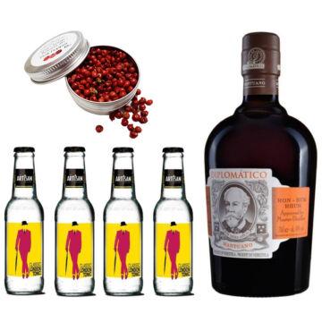 Diplomatico Mantuano Rum & Tonik Szett Ajándék Koktélfűszerrel