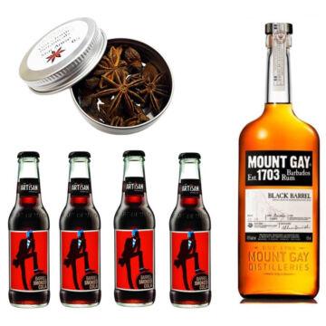 Mount Gay Rum & Cola Szett Ajándék Csillagánizzsal