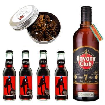 Havana Rum & Cola Szett Ajándék csillagánizzsal