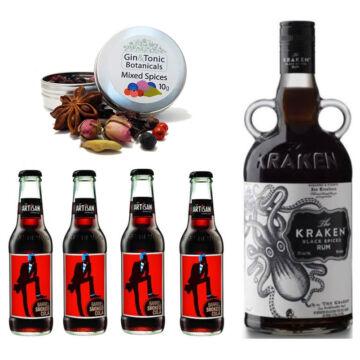 Kraken Rum & Cola Szett Ajándék Koktélfűszerrel