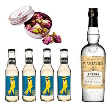Plantation White Rum & Tonik Szett Ajándék Perzsa rózsabimbóval