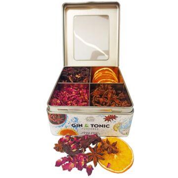 Gin Tonic Botanicals fém dobozban, osztott (hibiszkusz-szirom-ánizs-narancs) - 125 gr