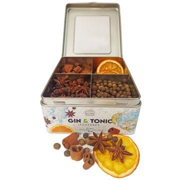 Gin Tonic Botanicals fém dobozban, osztott (fahéjgyűrű-ánizs-szegfűbors-narancs) - 235 gr