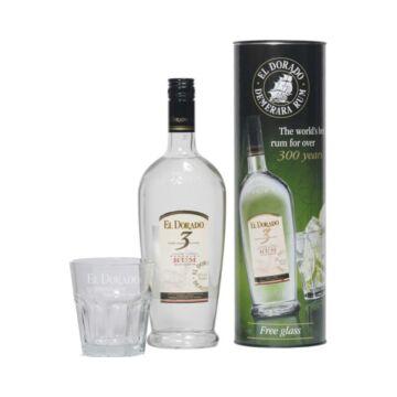 El Dorado 3 years rum dd. 0,7L 40% + pohár