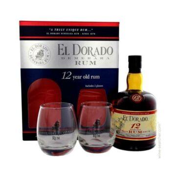 El Dorado 12 years rum 0,7L 40% pdd.+ 2 pohár Guyana Rum