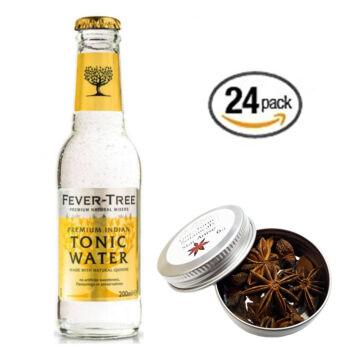 24 db Fever Tree Indian Tonik szett Ajándék csillag ánizs ginfűszerrel