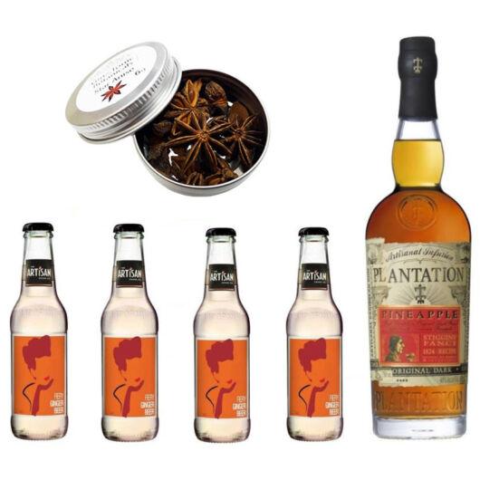 Plantation Pineapple Rum & Ginger Beer Szett Ajándék Csillagánizzsal