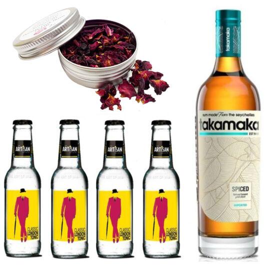 Takamaka Spiced Rum & Tonik Szett Ajándék Koktélfűszerrel
