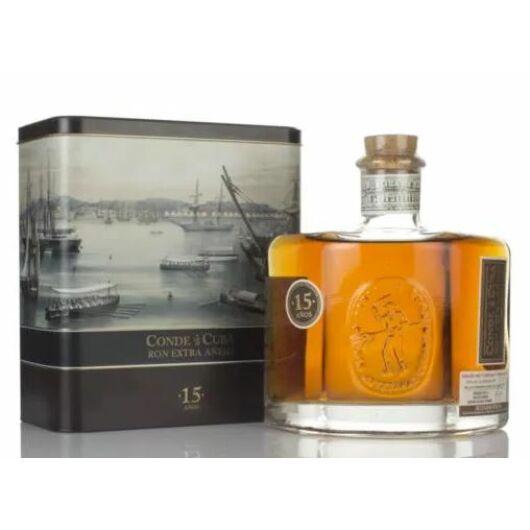Conde de Cuba 15 éves rum 38% fém dd.