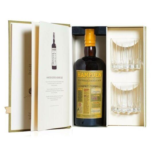 Hampden 8 éves rum + 2 pohár - 0.7L (46%)