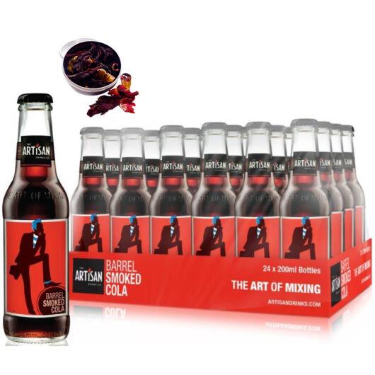 24 db Artisan Barrel Smoke Cola 200ml Ajándék hibiszkusz virággal
